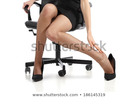 Legs in stockings and high heels isolated on white stock photo © serendipitymemories