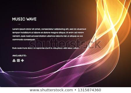 Sound waves oscillating on black. EPS 10 Stock photo © beholdereye
