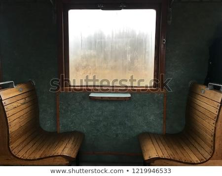 székek · klasszikus · vonat · ipar · retro · antik - stock fotó © tarczas