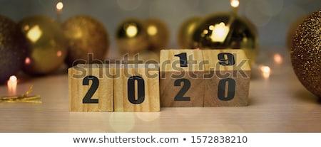 december in 3d wooden cubes Stock photo © marinini