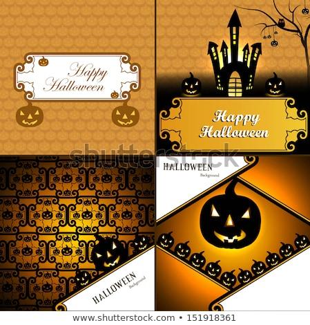 Halloween kart dört toplama tanıtım parlak Stok fotoğraf © bharat