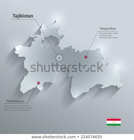 3D характер флаг Таджикистан изолированный Сток-фото © Kirill_M
