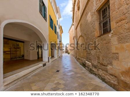 Ciutadella Menorca Ses Voltes arches Ciudadela Stock photo © lunamarina