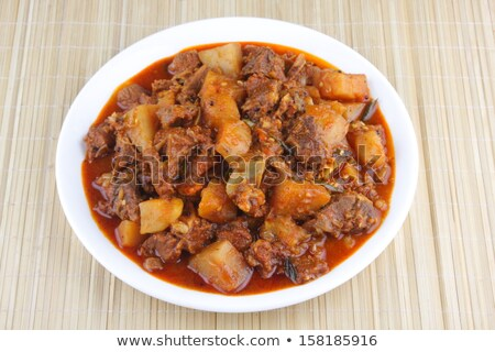 beef parotta with salad stock photo © bdspn
