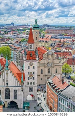 旧市街 · ホール · ミュンヘン · ドイツ · 広場 · クロック - ストックフォト © meinzahn