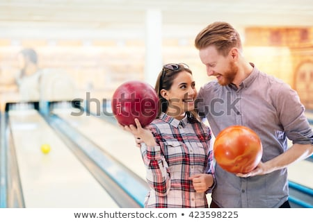 Couple In A Bowling Alley Stock photo © Jasminko