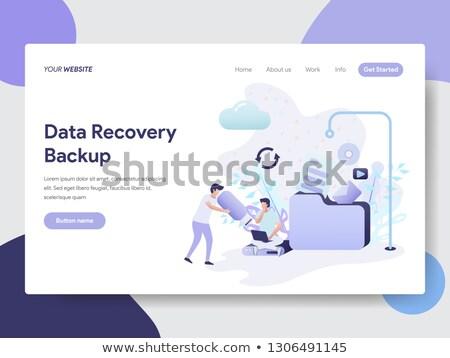 Data Recovery on Blue in Flat Design. Stock photo © tashatuvango
