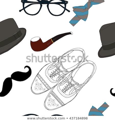 Kroki Retro şapka vektör bağbozumu Stok fotoğraf © kali