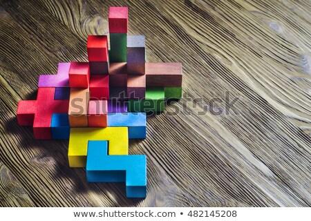 Logika puzzle fehér üzlet gondolkodik tanul Stock fotó © tashatuvango