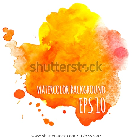 Yellow and red aquarelle Stock photo © timbrk