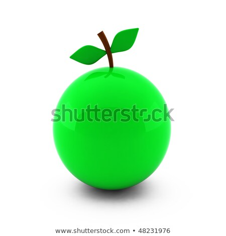 3d render of nice apple isolated on white Stock photo © montego