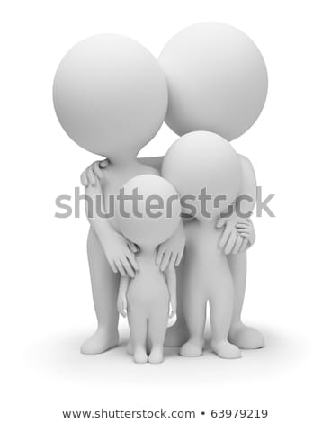 3D faible personnes famille parents enfants Photo stock © AnatolyM