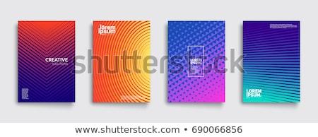 Szett modern hátterek színes izzik űr Stock fotó © maxmitzu