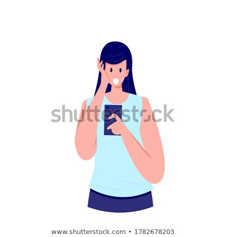 Young woman with a surprise look on her face Stock photo © dash