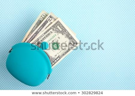Foto stock: Vinte · um · dólares · carteira · dinheiro · papel