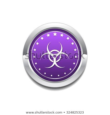 危険標識 · 紫色 · ベクトル · アイコン · ボタン · インターネット - ストックフォト © rizwanali3d