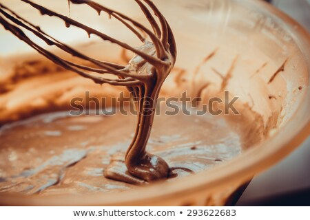chocolate · baunilha · sorvete · framboesa · molho · comida - foto stock © dariazu