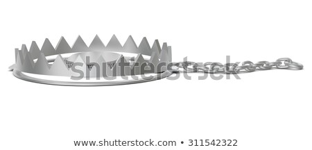 несут · ловушка · цепь · вид · сбоку · изолированный · белый - Сток-фото © cherezoff