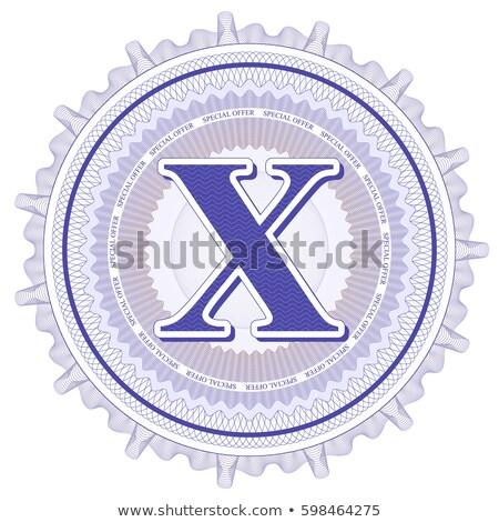 abstract guilloche logo letter x stock photo © netkov1