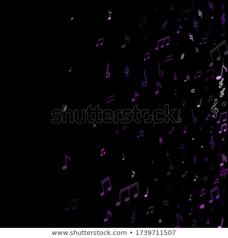Music Notes Violet Vector Icon Design Stock photo © rizwanali3d