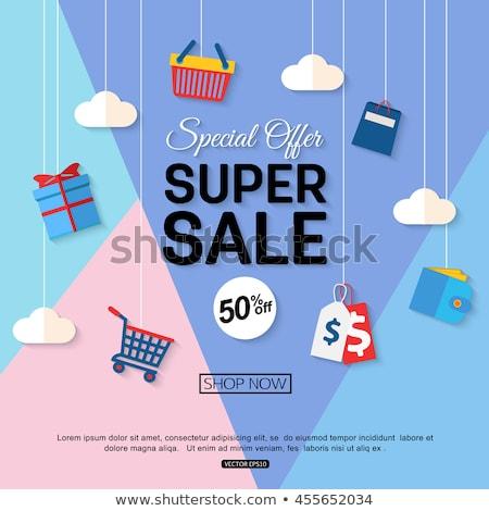 Super Discount Blue Vector Icon Design stock photo © rizwanali3d