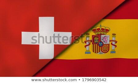 Svizzera Spagna bandiere puzzle isolato bianco Foto d'archivio © Istanbul2009