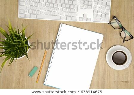 gün · kahve · atış · buket · açık · kitap - stok fotoğraf © frescomovie