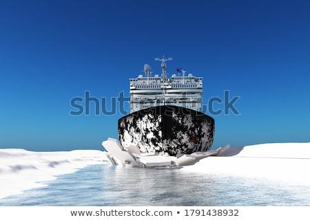 ártico · nevasca · longe · norte · oceano · ilustração - foto stock © tracer