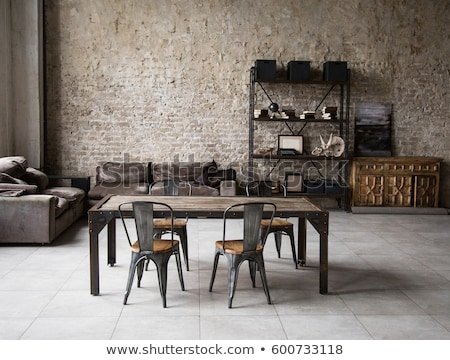 интерьер чердак стиль комнату стен Сток-фото © bezikus