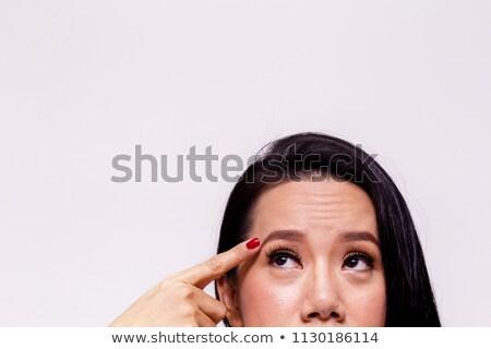 Old skin, eye, closeup Stock photo © zurijeta