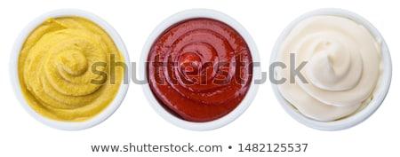 クリーミー ボウル 自家製 緑 皿 ストックフォト © Digifoodstock