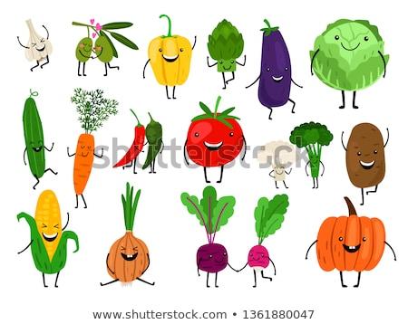 Happy veggies Stock photo © zsooofija