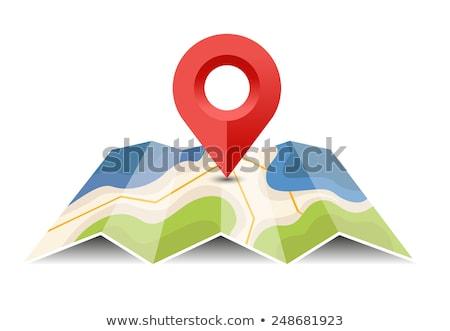 Magenta map pointer Stock photo © Oakozhan