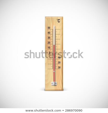 Escala termómetro primer plano blanco médico médicos Foto stock © OleksandrO