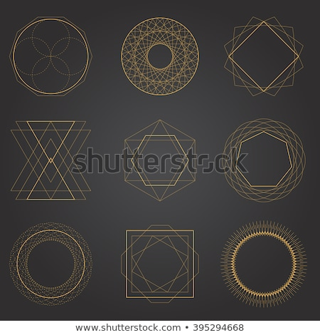 Diamonds. Polygonal geometric symbols stock photo © Natali_Brill