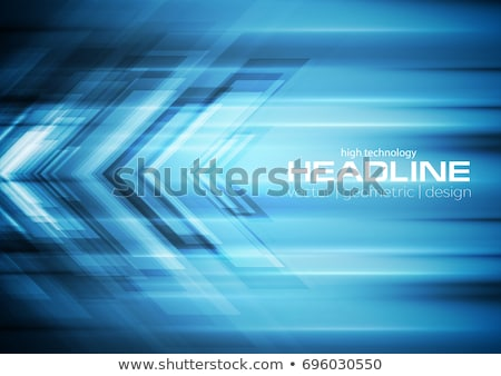 blue tech motion vector background with arrows stock photo © saicle