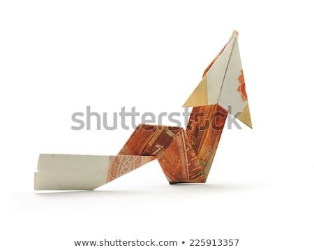Pijl origami witte business ontwerp Stockfoto © butenkow