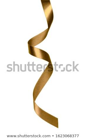 Stock photo: Shiny satin ribbon on white background