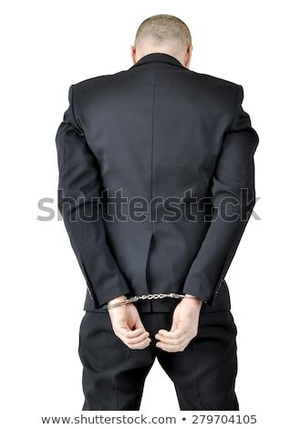 üzletember megbilincselve izolált fehér törvény igazság Stock fotó © Elnur