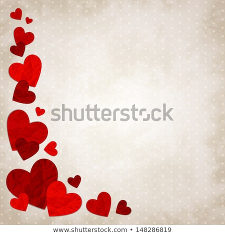 aged vintage valentines day card stock photo © swillskill
