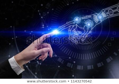 アンドロイド 手 ポインティング ビジネスマン ビジネス グラフィックス ストックフォト © wavebreak_media