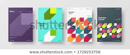 şablon dizayn baskı parlak soyut kareler Stok fotoğraf © kup1984