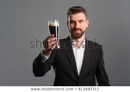 Sedutor cerveja jovem sensual mulher Foto stock © Fisher