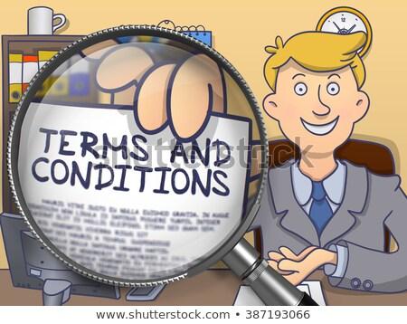 Terms and Conditions through Magnifier. Doodle Concept. Stock photo © tashatuvango