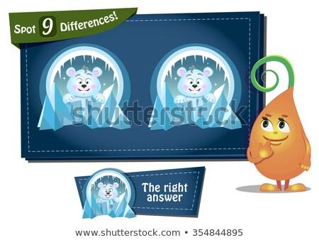 Encontrar diferenças urso polar jogo crianças tarefa Foto stock © Olena