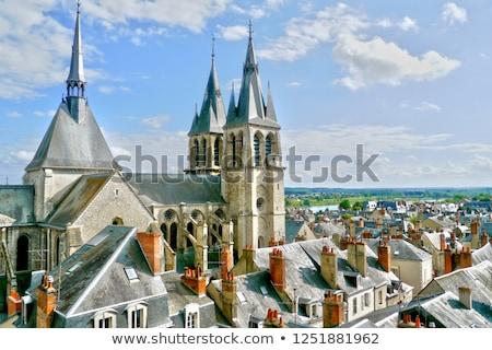 Katedral şehir kilise mavi seyahat Stok fotoğraf © benkrut