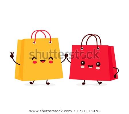 bevásárlószatyor · tele · születésnap · ajándék · ajándékok · karácsony - stock fotó © krisdog