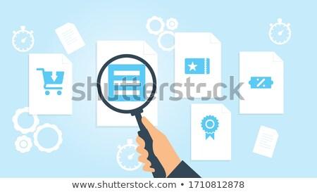 Eladó tervek akta címke kártya közelkép Stock fotó © tashatuvango