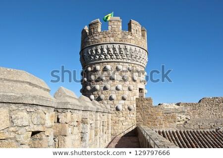 Tower of Castle of Manzanares el Real, Spain Stock photo © Nobilior