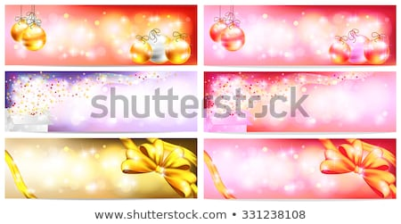 vector christmas illustration with magic gift boxes and shiny ho stock photo © articular
